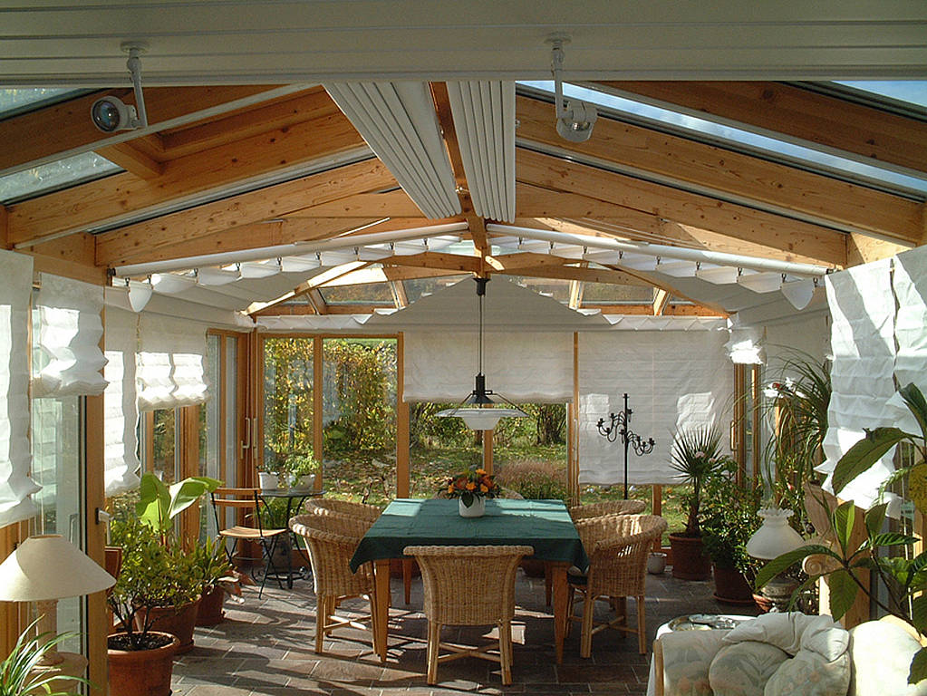 Innenliegende Wintergartenbeschattung Howalux Gmbh Jalousien